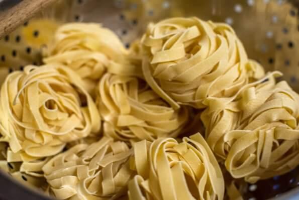Dried tagliatelli