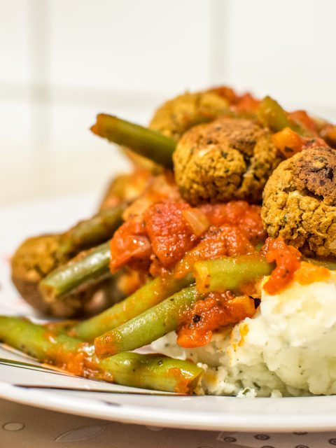 veggie balls and mash large